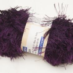 Fire tricotat, efect, bordo-mov - Ata