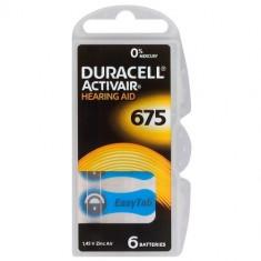 6x Duracell ActivAir 675MF Hg 0% Hearing Aid Battery BL069 - Baterie Aparat foto