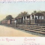 Carte Postala, Constanta, Circulata, Printata - SALUTARI DIN ROMANIA, CONSTANTA, TRENUL SPRE VII, STAMPILA MAR. 906