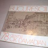 CIK DAMADIAN (dedicatie/semnatura) 78 desene Bucurescii