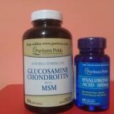 GLUCOZAMINA, CONDROITINA, MSM 90 capsule + ACID HIALURONIC 100 mg 60 capsule - Supliment nutritiv