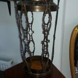 superb suport vechi pentru umbrele si bastoane din bronz