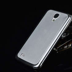Husa/toc Samsung S4 lux 100% aluminiu finisat, 0.3 mm grosime, nu piele, SILVER - Husa Telefon, Argintiu, Metal / Aluminiu