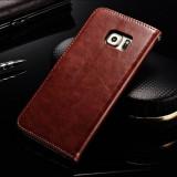 Husa piele fina Samsung Galaxy S6 EDGE PLUS lux, flip cover portofel,MARO CONIAC
