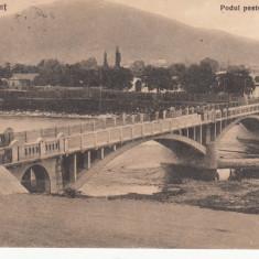 PIATRA NEAMT, PODUL PESTE BISTRITA, CIRCULATA AUG. *925 - Carte Postala Moldova dupa 1918, Printata