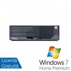 Sisteme desktop fara monitor - Fujitsu Esprimo E7935 SFF, Intel Core 2 Duo E8400 3.0Ghz, 4Gb DDR2, 160Gb HDD, DVD-RW + Windows 7 Home Premium