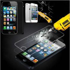 Folie de protectie Apple, Anti zgariere - Folie sticla iPhone 5 5S protectie ecran securizata antisoc
