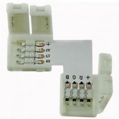 Conector colt pentru banda led RGB