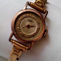 Ceas de dama vechi Contex Watch 42304, placat cu aur inclusiv bratara - Ceas de mana