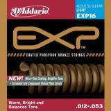 Corzi chitara acustica D'addario EXP16 Coated Phosphor Bronze, Light, 12-53