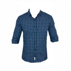Camasa barbati - Camasa Polo Ralph Lauren, Albastra, Bumbac, Carouri, Groasa, Toate Mas C325
