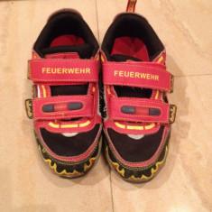 Adidasi Kappa pompierii marimea 32 - Adidasi copii, Baieti, Piele sintetica