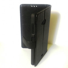 Toc Microsoft Lumia 535 Husa Piele Ecologica Flip Tip Portofel Neagra - Husa Telefon