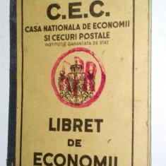 Carnet de C.E.C. regalist - supratipar R.P.R. - Pasaport/Document, Romania 1900 - 1950