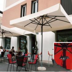 Mobila terasa gradina - Umbrela Napoli - cu schelet de aliaj metalic usor 4x4 m - Sco4040NT