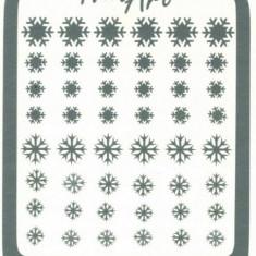 Unghii modele - Set sabloane vinyl - silver- ''Diamond Snowflakes''
