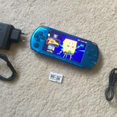 PSP Sony 3004 SLIM MODAT+card1gb cu 8jocuri+adaptor PRO DUO+incarcator STARE FT BUNA