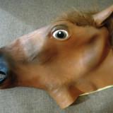 Masca cap de cal, latex, pentru petreceri, Halloween