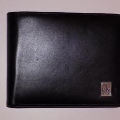 Portofel Barbati Levi S CALVIN KLEIN 100% ORIGINAL PIELE NATURALA-LIVR. GRATUITA CURIER, Negru, Clasic