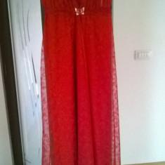 Rochie de seara - Rochie rosie dantela M