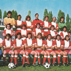 Foto echipa de fotbal - DINAMO Bucuresti anii`70 (dimensiuni 15x10.5cm)