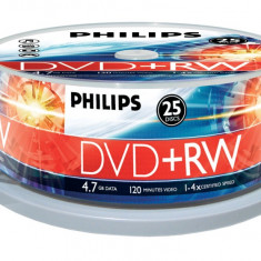 DVD Recordere - Philips DVD+RW 4.7GB (25 buc. Spindle, 4x) PHILIPS
