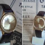 Ceas RAKETA Gold Dial, cal 2601, 16 jewels, placat cu aur, functional - Ceas de mana