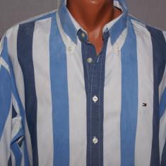 Camasa barbati Ralph Lauren TOMMY HILFIGER albastra in dungi marimea XXL, Maneca lunga