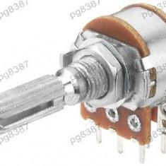 Potentiometru rotativ 200K, liniar, stereo - 161016