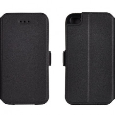 Husa Microsoft Lumia 550 Nokia Flip Case Inchidere Magnetica Black - Husa Telefon Nokia, Negru, Piele Ecologica, Cu clapeta, Toc