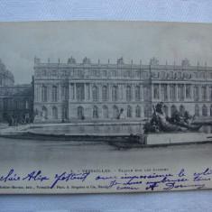 Carte postala circulata in anul 1903 VERSAILLES Facade sur les jardins, Franta, Printata