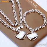 Set bijuterii argint Diesel - SET bijuterii GUESS argint 925 marcat BRATARA+LANT/COLIER inima+cutie cadou