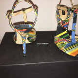 Sandale dama D&G, Piele naturala - Sandale DOLCE&GABBANA 38, 5