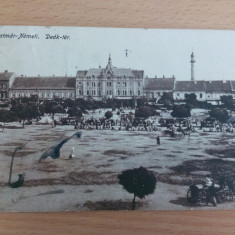SATU MARE - DEAK TER - Carte Postala Transilvania 1904-1918, Circulata, Fotografie