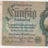 bancnota europa, An: 1933 - GERMANIA 50 mark 1933 VF
