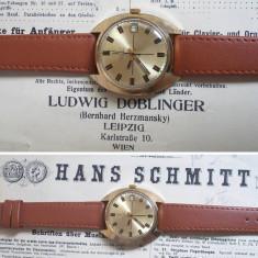 Ceas de colectie POLJOT 17J, placat cu aur, cal. 2614.2H, functional - Ceas barbatesc