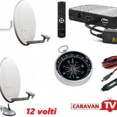 Antena Camping, Rulota- TV+receptor12 v fara abonament, Receivere digitale