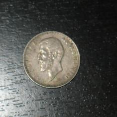 Moneda argint 2 lei Romania 1912, regele Carol I, necuratata - Moneda Romania