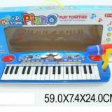 Orga muzicala 60cm cu baterii si microfon - Instrumente muzicale copii