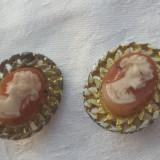 Cercei cu Camee executati manual Vintage Finuti Elenganti de Efect Superbi