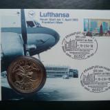 1994 Lufthansa - FDC si medalie., Europa, Transporturi