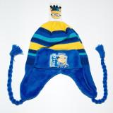 Caciula din tricot Minions albastru - Caciula Copii