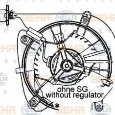 Ventilator, habitaclu MERCEDES-BENZ E-CLASS limuzina E 220 D - HELLA 8EW 009 159-461 - Motor Ventilator Incalzire
