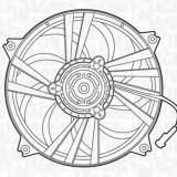 Ventilator, radiator PEUGEOT 807 2.0 - MAGNETI MARELLI 069422300010 - Electroventilator auto