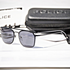 Ochelari de soare Police Neymar JR4 S8958 W02H, Barbati, Negru, Patrati, Metal, Protectie UV 100%