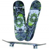 Skateboard inSPORTline SPORTMANN POKER - placa dublu concava din artar, Copii