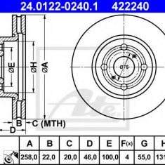 Disc frana TOYOTA VITZ 1.3 - ATE 24.0122-0240.1 - Discuri frana REINZ