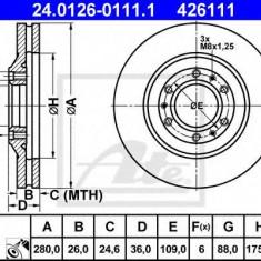 Disc frana OPEL FRONTERA A 2.3 TD - ATE 24.0126-0111.1 - Discuri frana REINZ