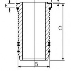 Camasa cilindru ALFA ROMEO 90 2.4 TD - GOETZE ENGINE 14-676420-00