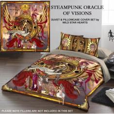 Set lenjerie de pat din bumbac Oracolul steampunk 200x200